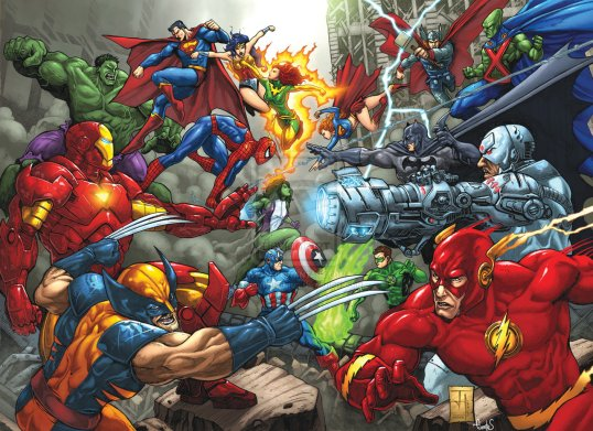 marvel_vs_dc_commission_by_bennyfuentes-d5mh97g